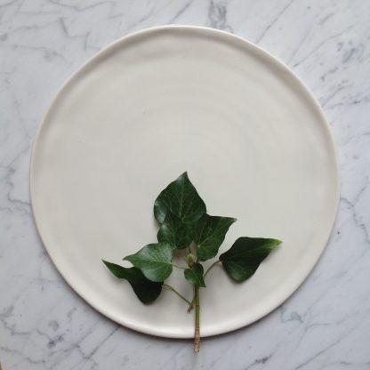 Matt porcelain plate- dinnerware- tableware- handmade- hand thrown- by linda bloomfield