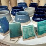 Glaze tests, Linda Bloomfield Glaze Course