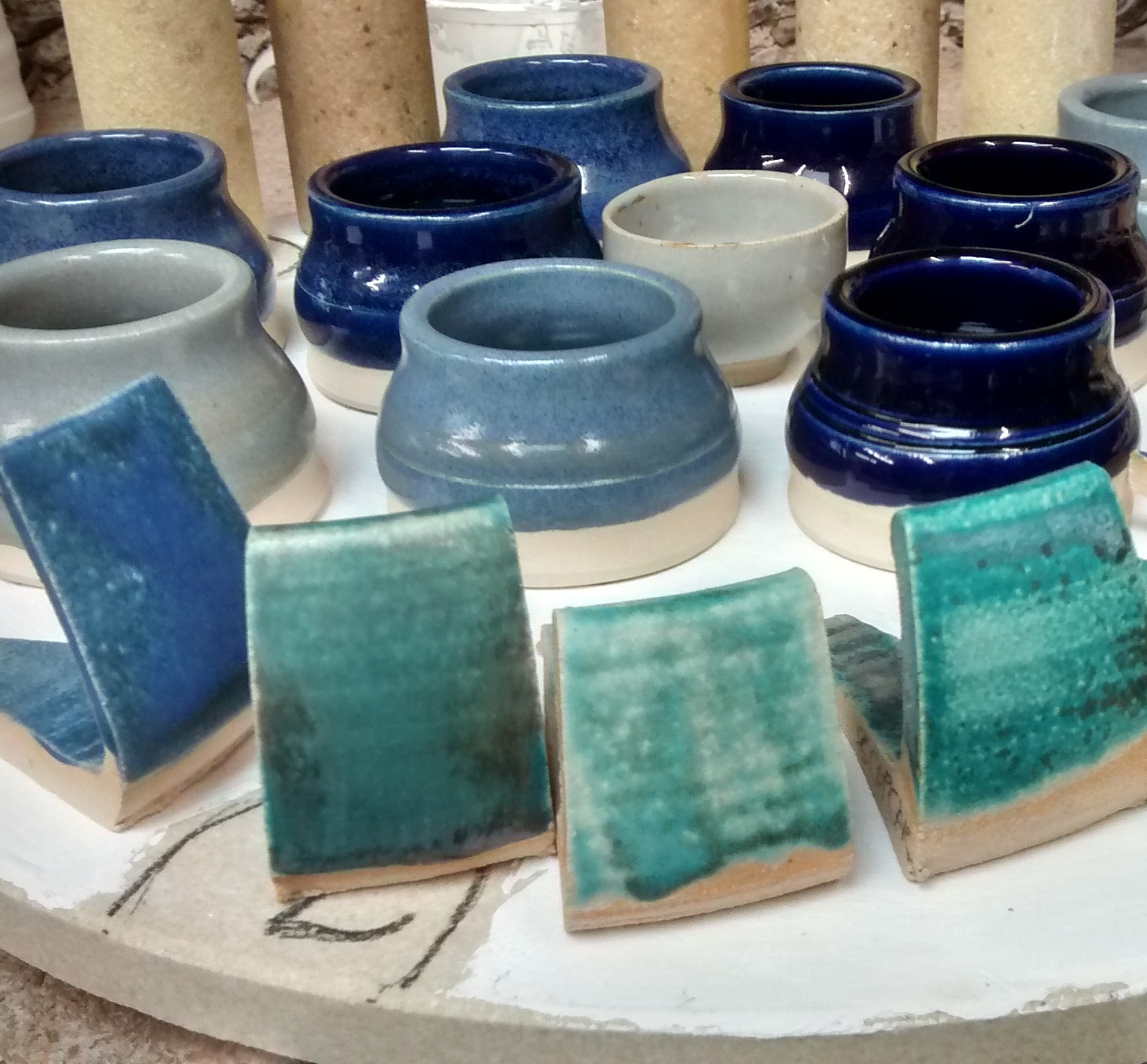 Glaze tests, Linda Bloomfield Glaze Course