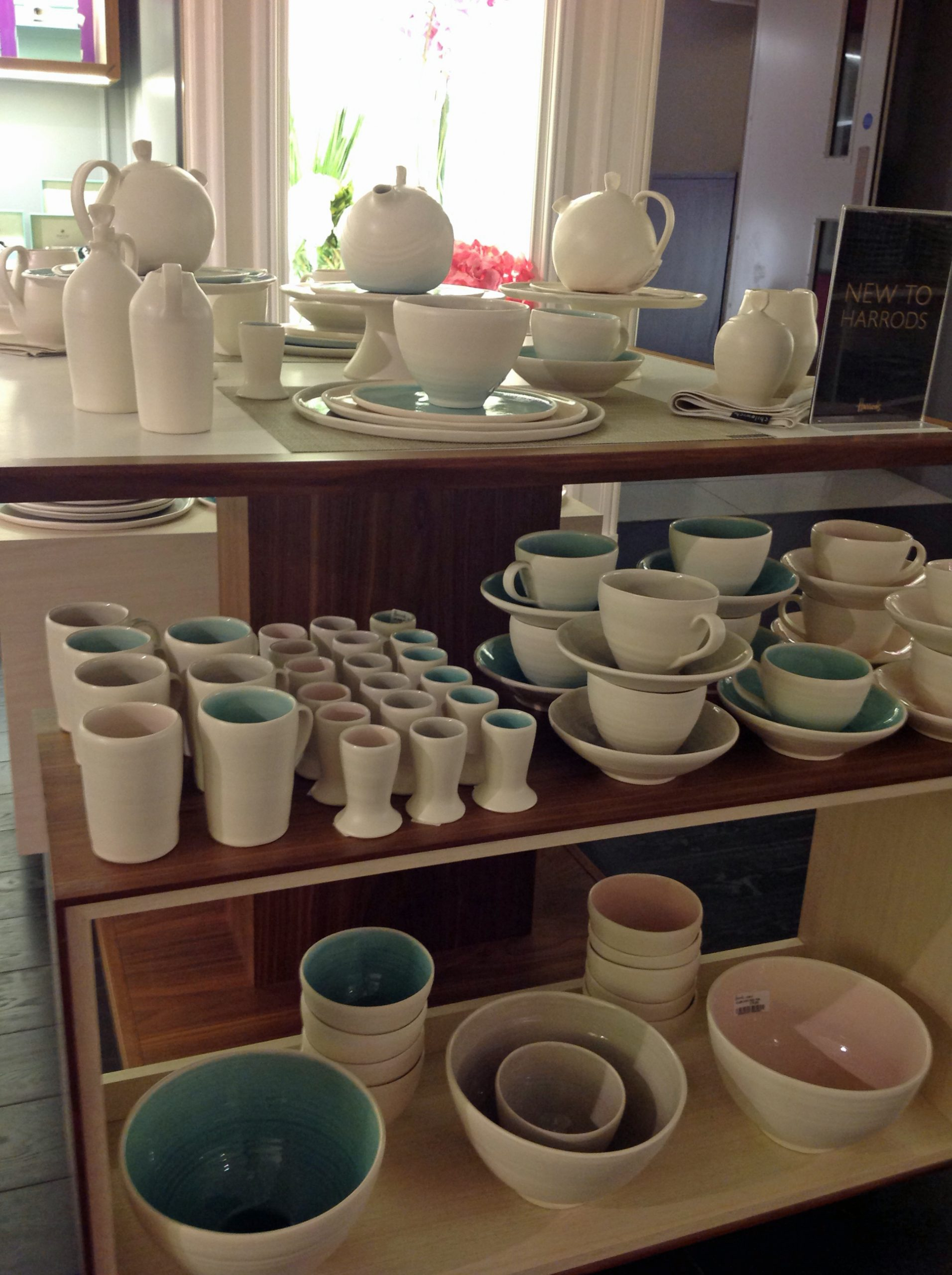 Hand-thrown porcelain tableware  Harrods