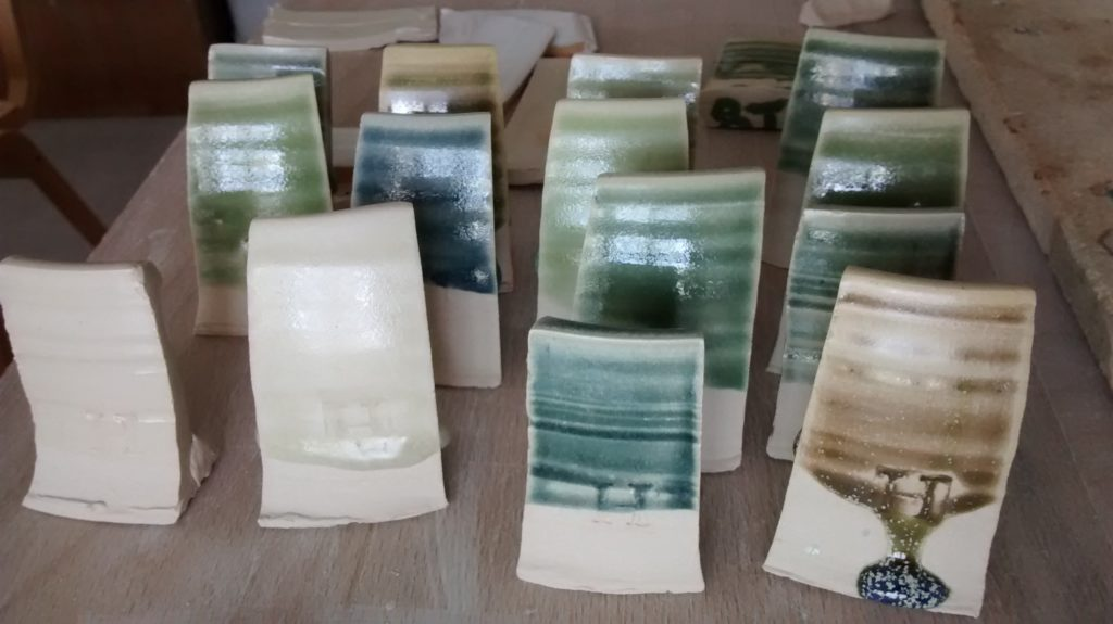 test tiles, glaze tests, glaze, pottery