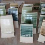 test tiles, glaze tests, glaze, pottery