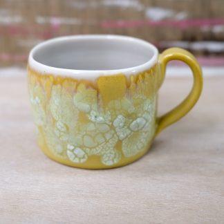 lichen glazed mustard mug