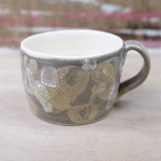 lichen glazed mug grey