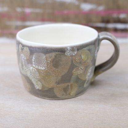 lichen glazed mug grey
