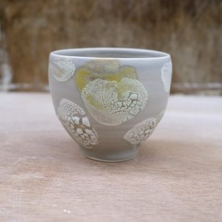 yellow and grey bowl