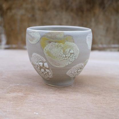 yellow and grey bowl