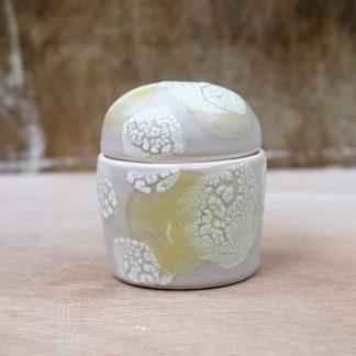 grey yellow porcelain box