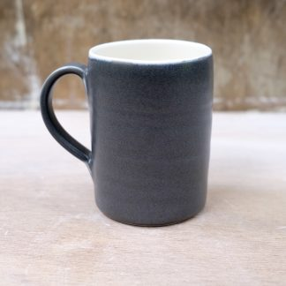 large black porcelain mug