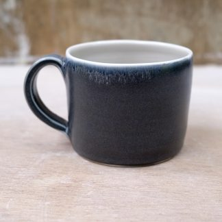 black porcelain mug