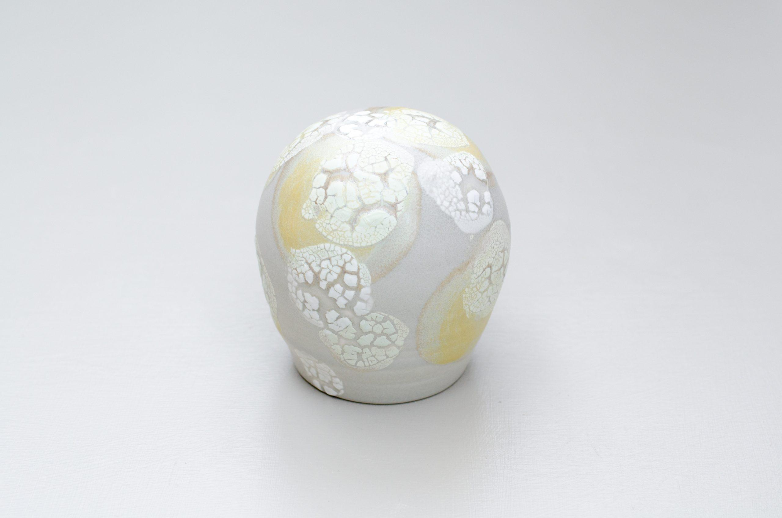 Lichen-glazed porcelain sculptural form