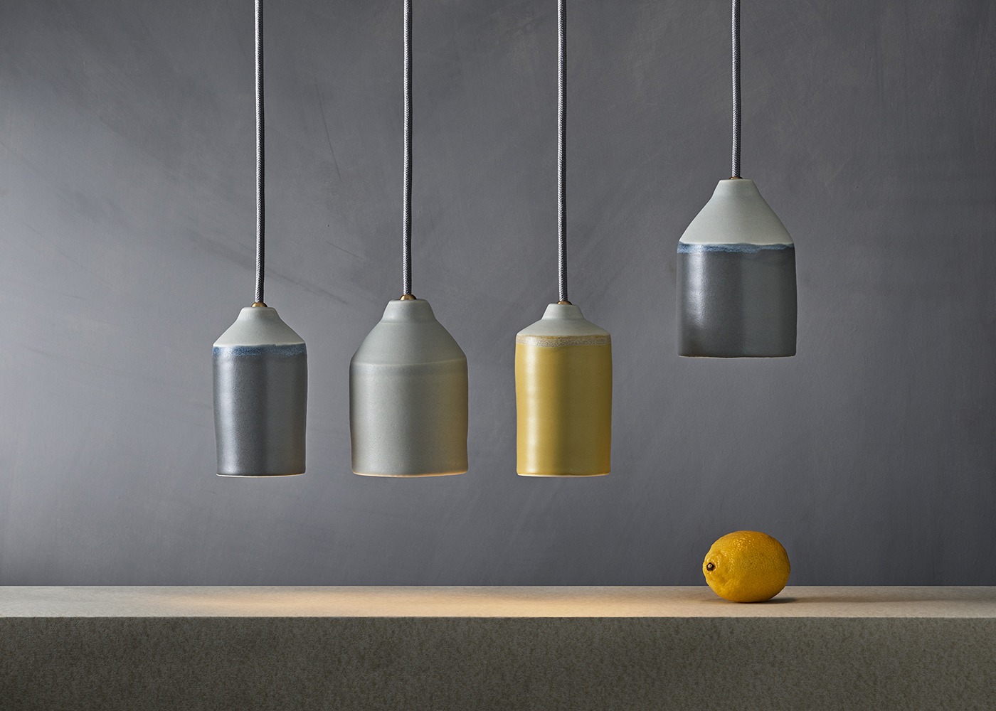 'Morandi' porcelain light shades